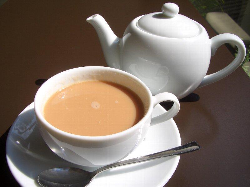 Ilustrasi susu dan teh
