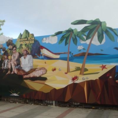 Yuk Berimajinasi di Wall Anugerah Alam Indonesia!