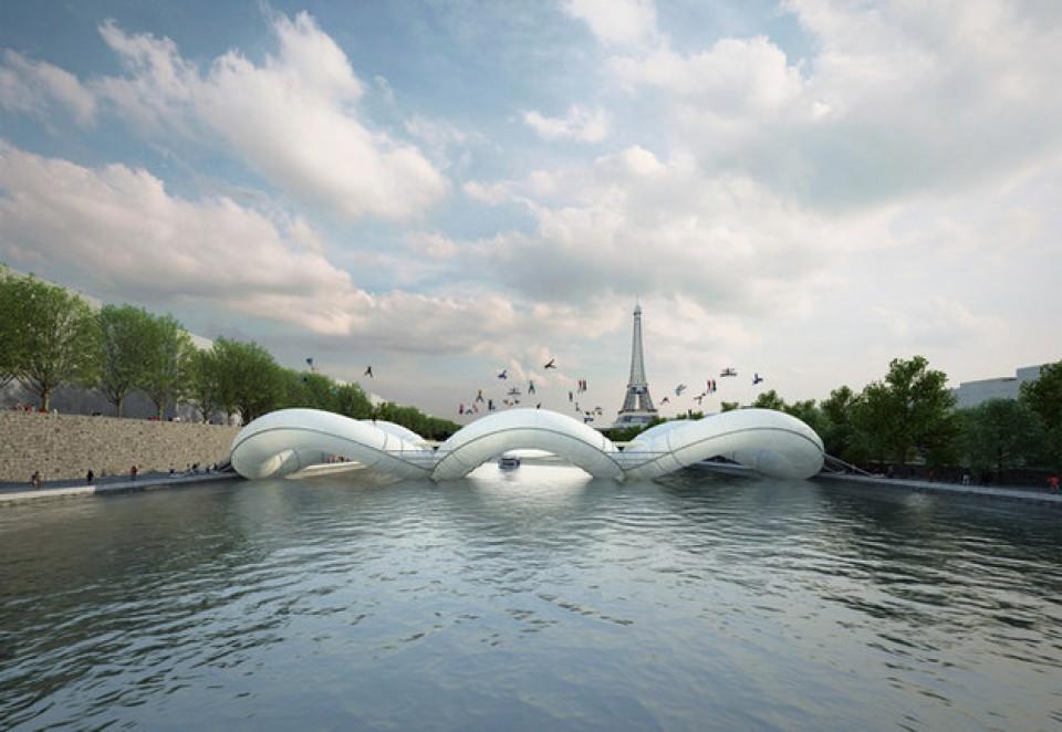 Bermain Sambil Menyebrang Jembatan Unik di Perancis